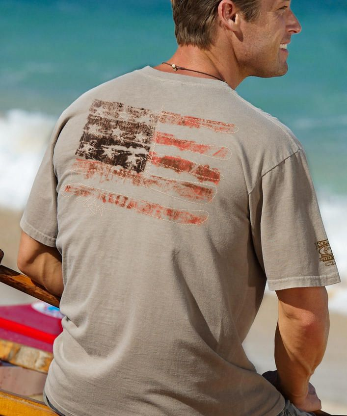 USA ForeverKona Coffee-Dyed Crew Neck T-Shirt