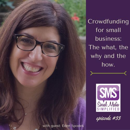 Eden Spodek: Crowdfunding for small business - the what, the why and the how | Lara Wellman Digital Marketing | Social Media Simplified Podcast