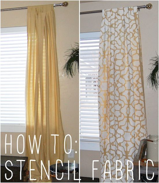 Learn how to stencil fabric with an awesome tutorial from Little Yellow Barn!