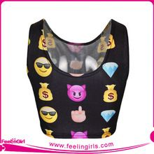 2015 Cheap QQ expressions Girls blusas cortas divertido best seller follow this link http://shopingayo.space