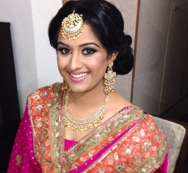 Beautiful punjabi bride with traditional jewelry.
