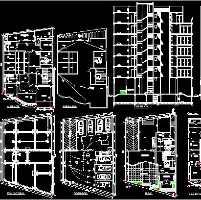 20 best projects to try images on pinterest arquitetura for Commercial building blueprints free