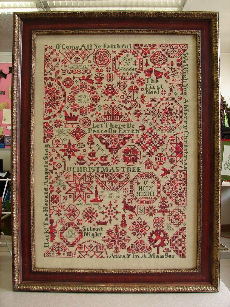 Fantastic Christmas cross stitch sampler - really astonishingly complex