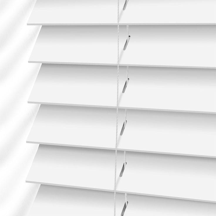 Bright White Wooden Blind - 50mm Slat
