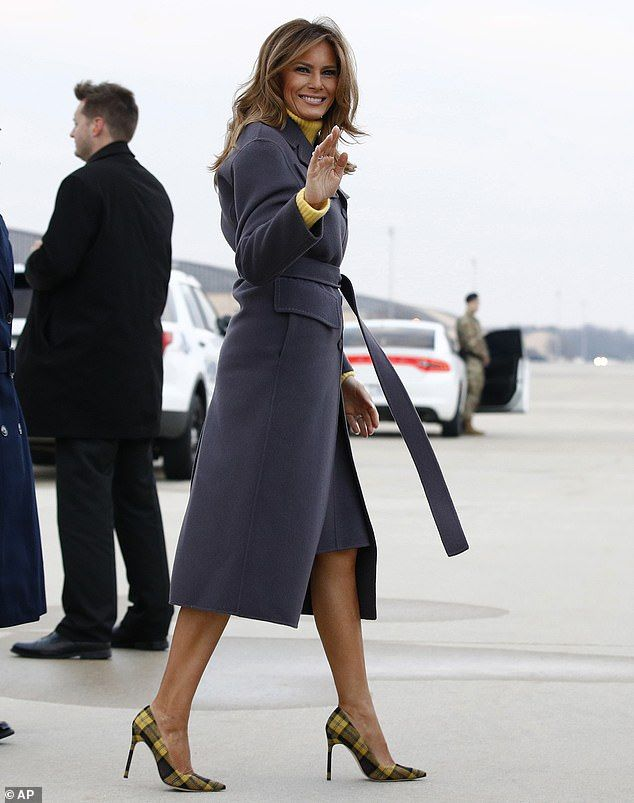 Melania Trump wears $700 yellow plaid pumps to start Be Best
