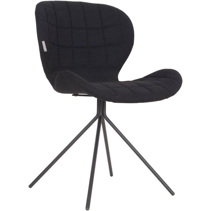OMG! Deze stoel van Zuiver is zo comfortabel dat je er bijna niet meer vanaf komt als je eenmaal gaat zitten! Dit komt door zijn ronde vormen en zachte, polyester zitting. Het metalen onderstel maakt dat hij stevig staat.