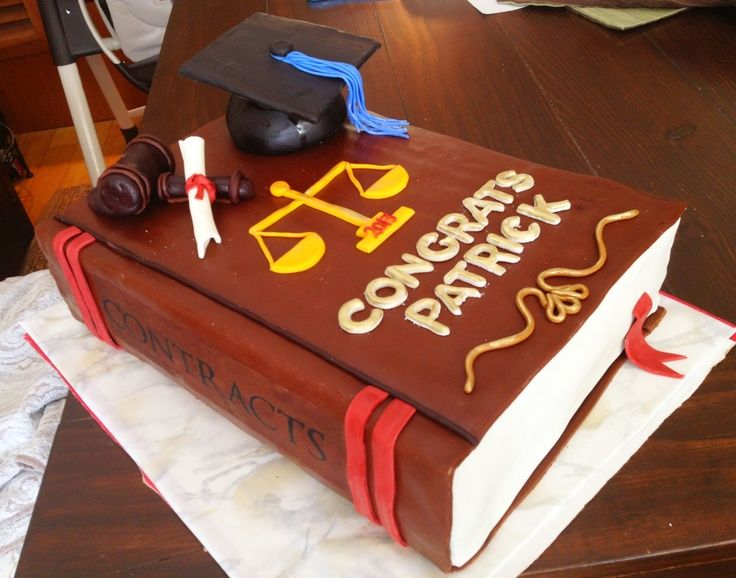 Law Graduation Cake Toppers