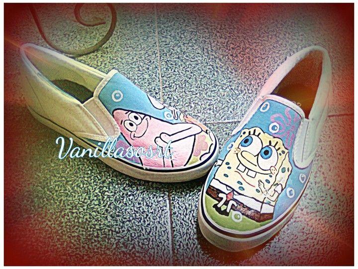 #patrick #spongebob #squidward #paintingshoes #vanillasosrt