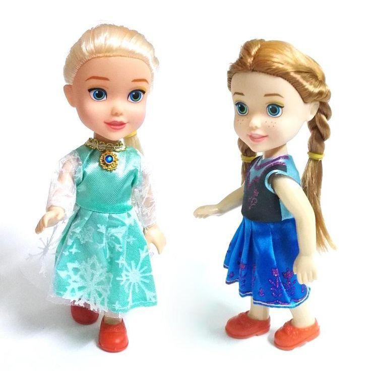 NUEVO 1 unids Mini Princesa Elsa Anna Muñecas Del Bebé Niños de Dibujos Animados Juguetes Para Los Niños Muñeca de La Muchacha de La Reina de La Nieve de Juguete