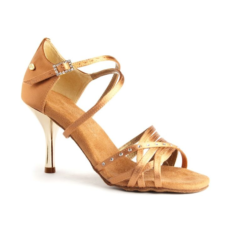Elegant dansesko i mørk bronze satin og metallic hæl. Model PD400 Fashion fra PortDance findes hos Nordic Dance Shoes: http://www.nordicdanceshoes.dk/portdance-pd400-fashion-moerk-bronze-satin-dansesko#utm_source=pin