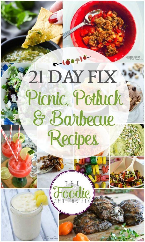 21 Day Fix Picnic, Potluck and Barbecue Recipes