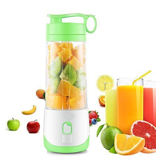 CloverTale Mini USB Rechargeable Electric Fruit Juicer portable Blender with Bar #FstopLabs