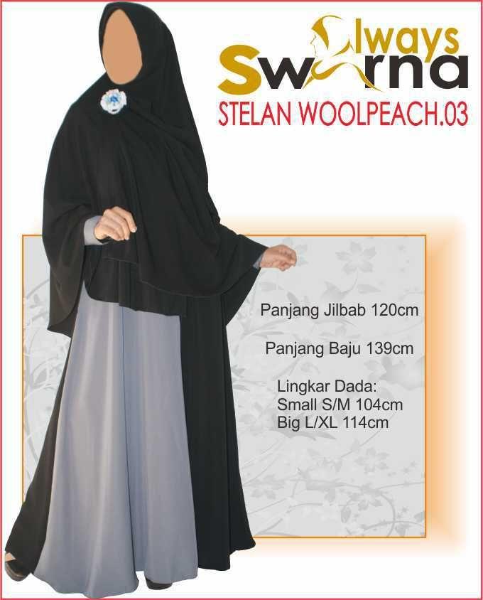 Baju Gamis Wanita Syar'i – Model Busana Muslim- Always Swarna stelan woolpeach.03 – hitam abuBaju Gamis Wanita Syar'i – Model Busana Muslim- Always Swarna stelan woolpeach.03 – hitam abu