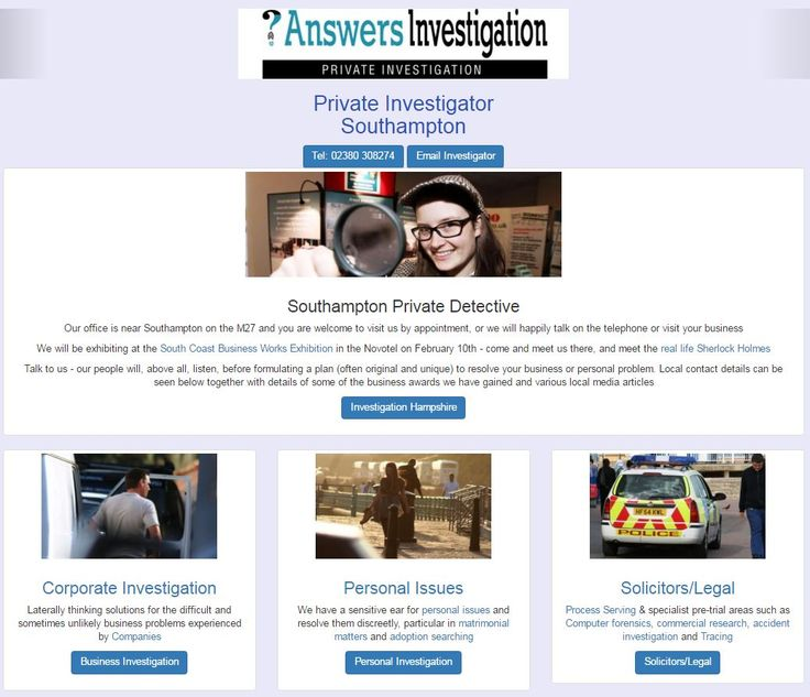 Private Investigator in Southampton Answers