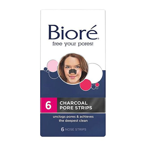 Biore Charcoal Pore Strips Remove weeks worth of pore gunk with just one strip.