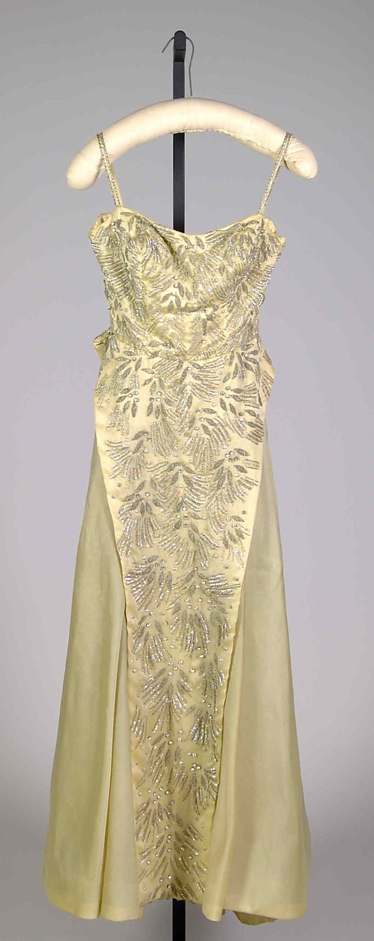 Evening dress Fontana (Italian, founded 1943) Date: 1956 Culture: Italian