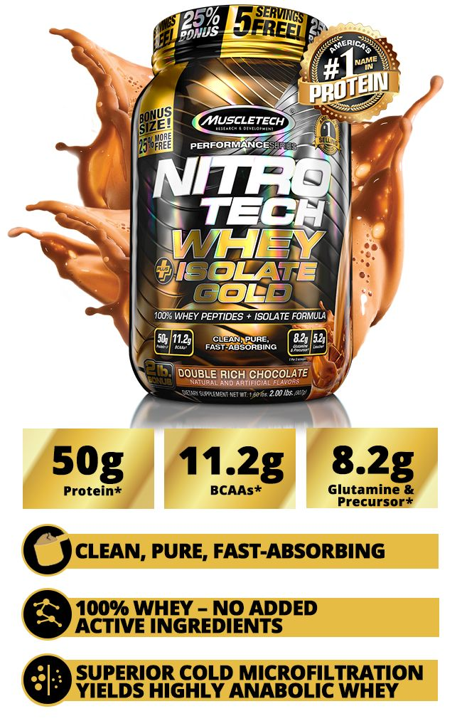NITRO-TECH WHEY PROTEIN + ISOLATE | MuscleTech