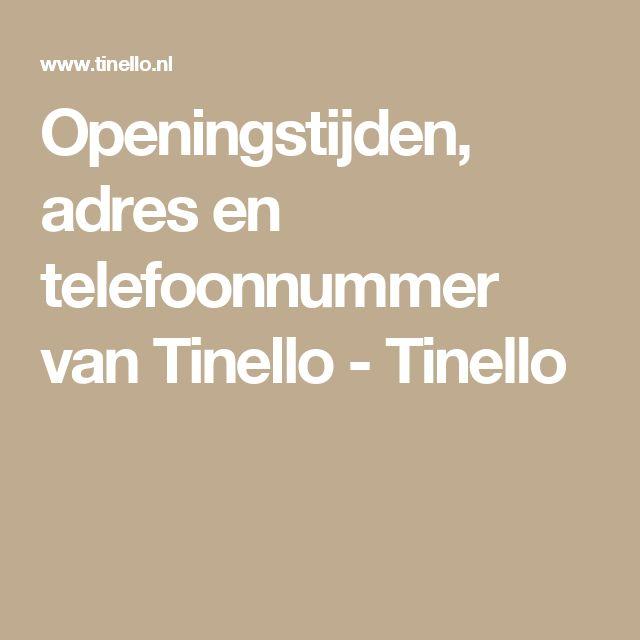 Openingstijden, adres en telefoonnummer van Tinello - Tinello