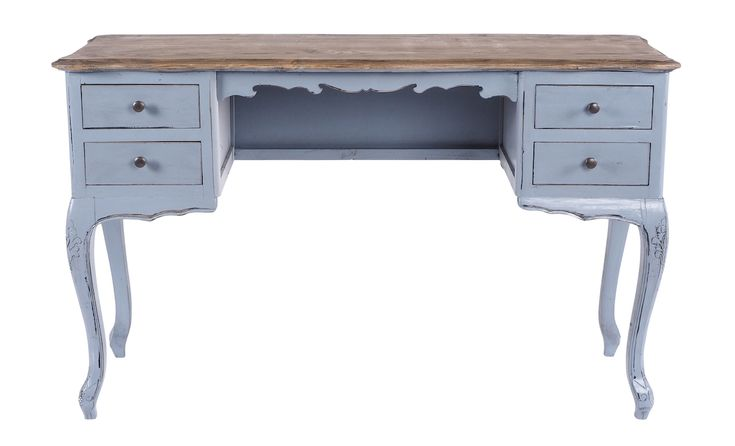 Limited Edition Marielle 4 Drawer Desk -  available in Grey, Black and White.
