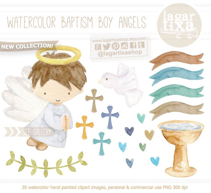 https://www.etsy.com/mx/listing/489146427/clipart-en-acuarela-bautizo-baby-blue #baptism #babyboy #christening #mibautizo #angels #watercolor #graphicdesign #etsy #clipart
