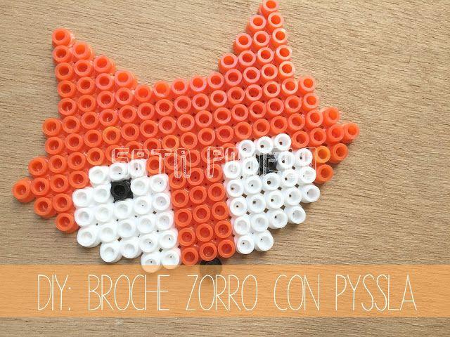 DIY: Un broche zorro con Pyssla.