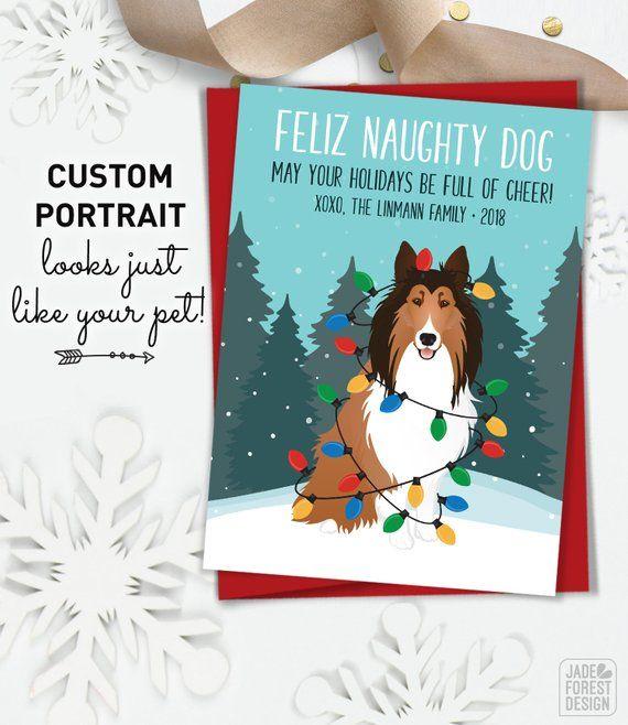Funny Christmas Cards With Custom Dog