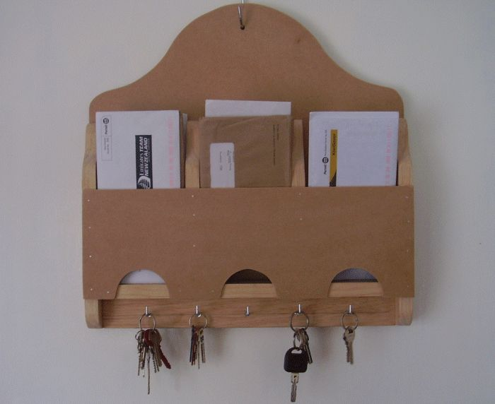 letter rack with key holders