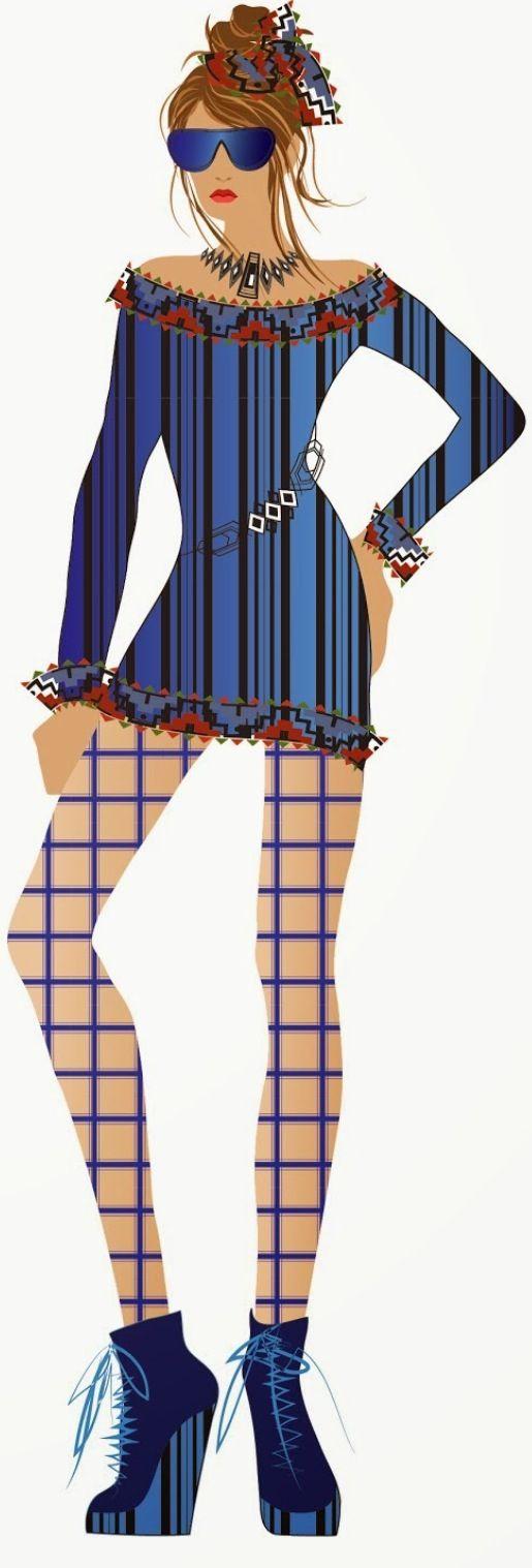 Fashion sketches by Natalia Quattromani