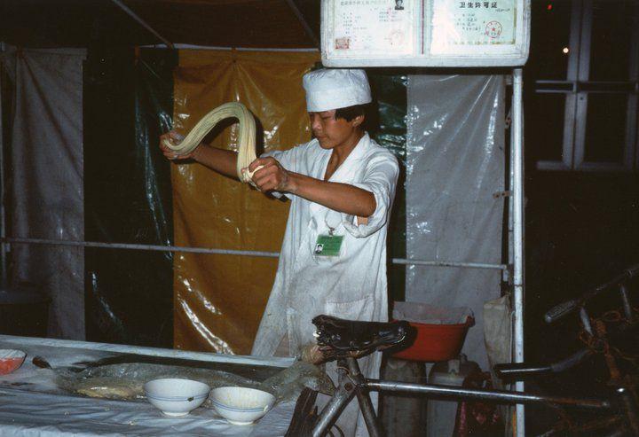 Pechino 1991, Spaghetti in piazza