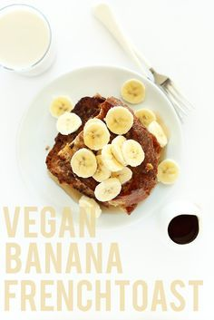 VEGAN BANANA FRENCH TOAST! SO easy and delicious - 5 ingredients, 1 bowl.