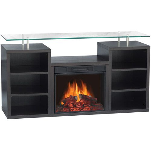 "Electric Fireplace with 50"" Console $260 Walmart Electric"