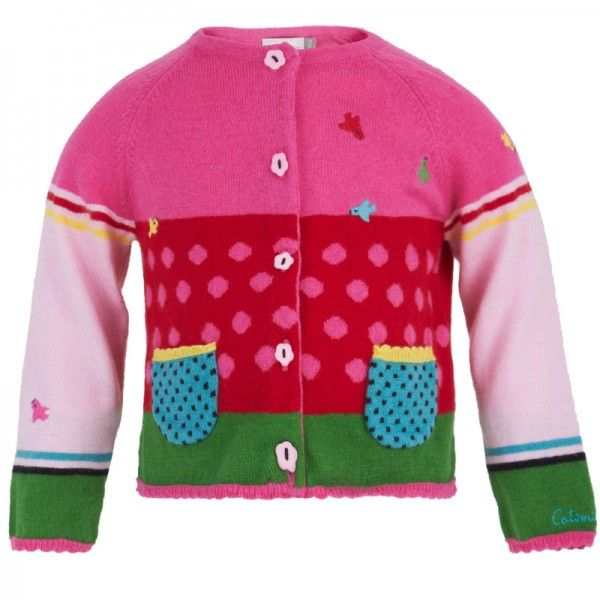 Catimini+Pink+&+Green+Polka+Dot+Cardigan+at+alexandalexa.com