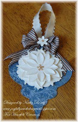 Heartfelt Creations Christmas ornament using Season of Joy Collection and Spellbinders Ornament Die