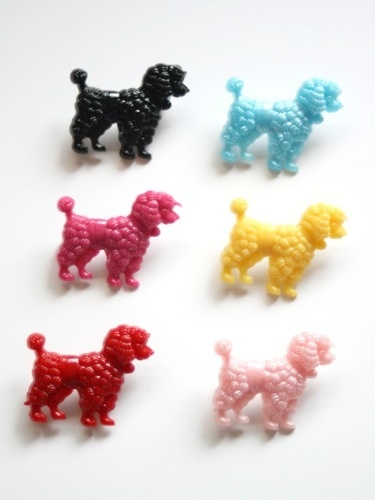 Gorgeous Poodle brooches