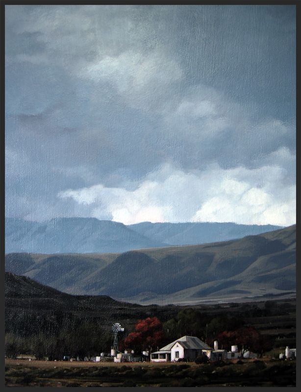 """Swartberg Farm"" - Karoo Landscape by South African artist, Shelagh Price."