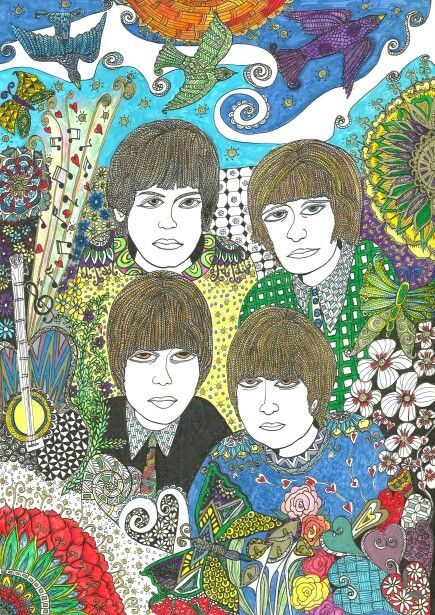 Beatles Zentangle zendoodle