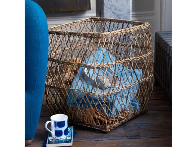 Something really different, here - these baskets are not like any other we've seen. Great size, good capacity, and a lovely open weave, as you can see here. We've shown them as log baskets, but they're also great as laundry bins. #livingroom #storage