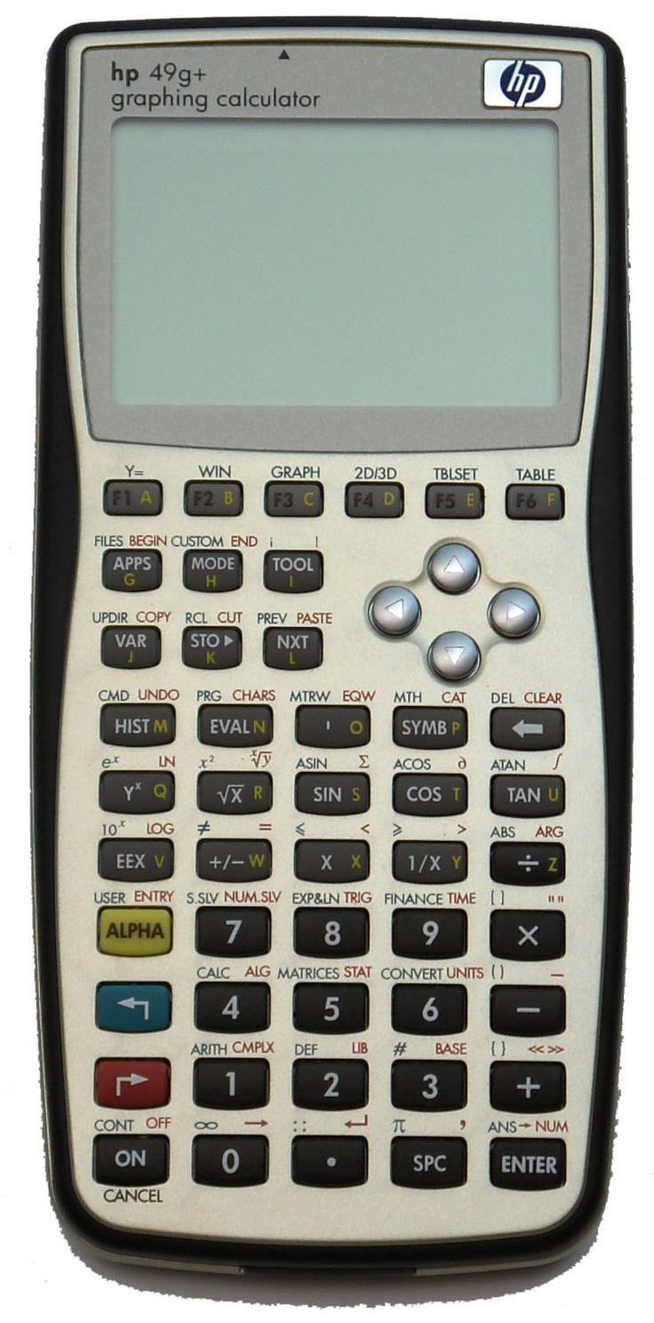 Calculadora programable HP49g+ de Hewlett-Packard (2003).