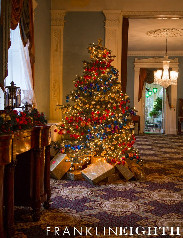 """A Storybook ChristmasTree at the Bartow-Pell Mansion Museum """"Auntie Claus"""" - Franklin Eighth 