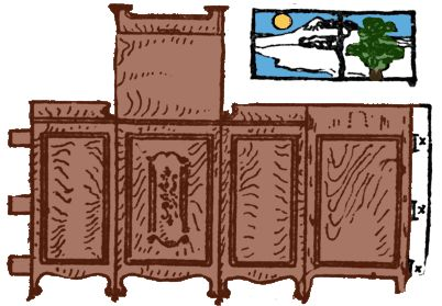 Miss Paper Doll: Living room furniture (1911)