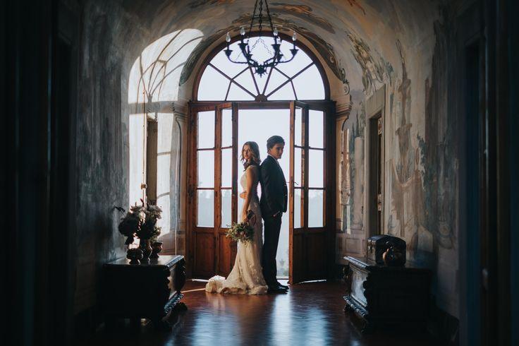 In hallway of Villa Medicea di Lilliano - picture by Stefano Cassaro