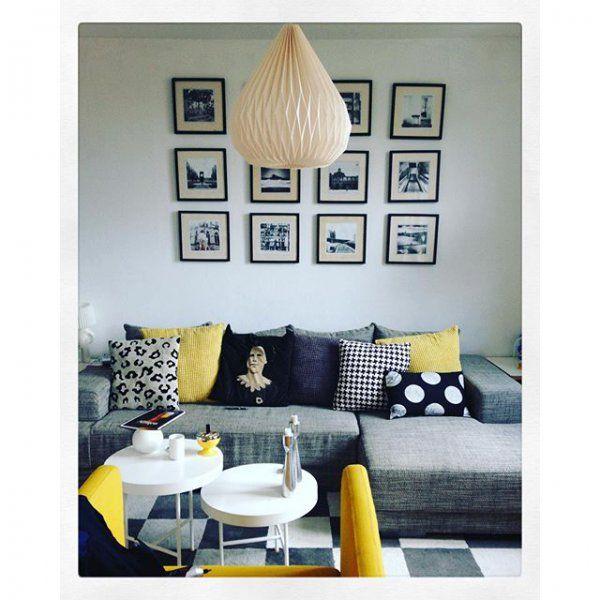 Une touche de jaune moutarde dans la décoration / Mustard yello in the living room