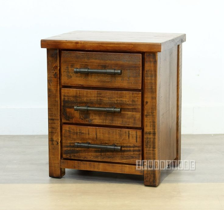 INDUSTRY Rustic 3 Drawer Bedside