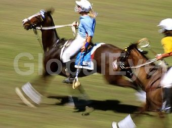 Polocrosse Action. D C Hancock. Australian Polocrosse Championships  at Fred's Pass, near Darwin. NSW v  WA. Equestrian sport horse raquette. Photographer: David Hancock.  Copyright: SkyScans. 207719. Stock Photo By David C Hancock