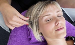Groupon - Three Eyebrow-Threading Sessions or One Full-Face Threading at Spool Me Rotten (50% Off) in Spool Me Rotten. Groupon deal price: $15