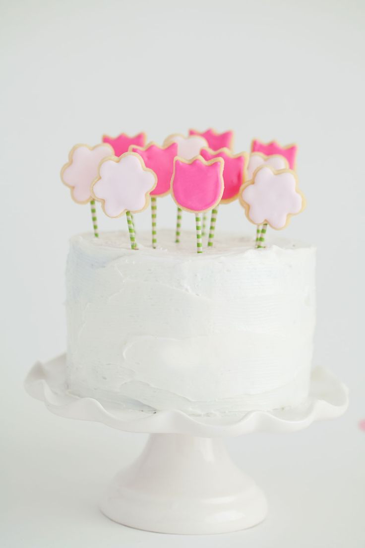 TELL:  SPRING COOKIE CAKE TOPPER