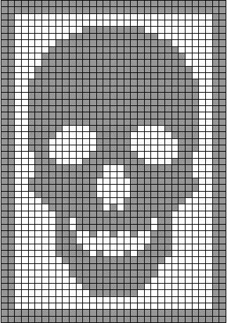 I've got an early Halloween surprise for you, my peeps...  Remember my skeleton antimacassar ? That Monster Crochet filet crochet classic?  ...