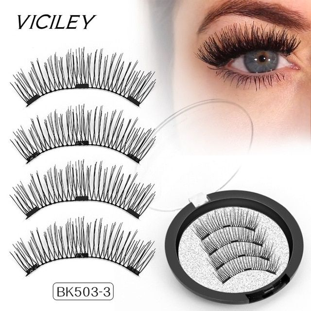 2825b7d7f76 VICILEY Magnetic Eyelashes 3D definition false Lashes with 3 magnets  Handmade Cilios Posticos wholesale Eyelash Extensions