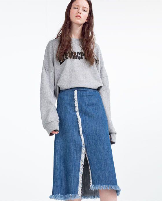 ZARA - WOMAN - SKIRT WITH SLIT | zara | Pinterest | Zara and Skirts