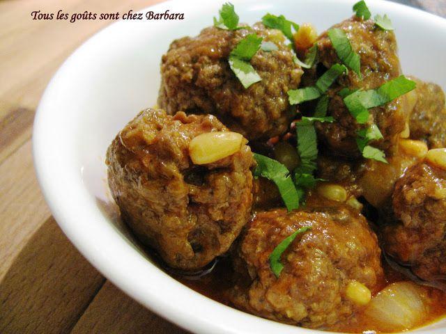 Daoud basha (boulettes libanaises boeuf-agneau en sauce tomate)